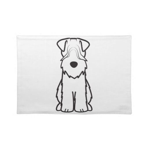 Soft Coated Wheaten Terrier Dog Cartoon Placemats | Soft Coated ...