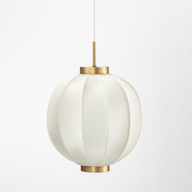 Lampshade Sewn 2538 Height 30 cm, Silk, White, Josef Frank