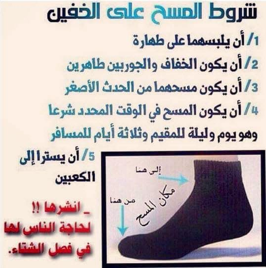 Desertrose شروط المسح على الخفين Quran Verses Prayers Islam