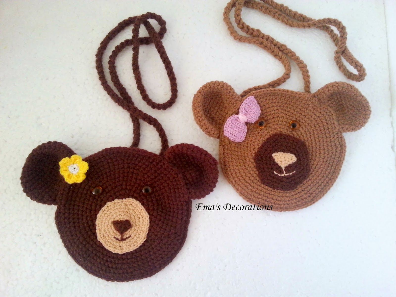 Ema\'s Decorations: Crochet Bear Bag - free pattern | Crochet ...