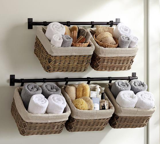 Build Your Own Hannah Basket Wall System Bathroom