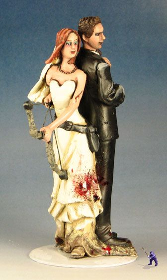 Zombies Are Weak Against Shovels Cake Topper