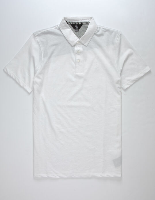 Volcom Wowzer White Mens Polo Shirt White 321552150 In 2021 White Polo Shirt Shirts Polo Shirt White