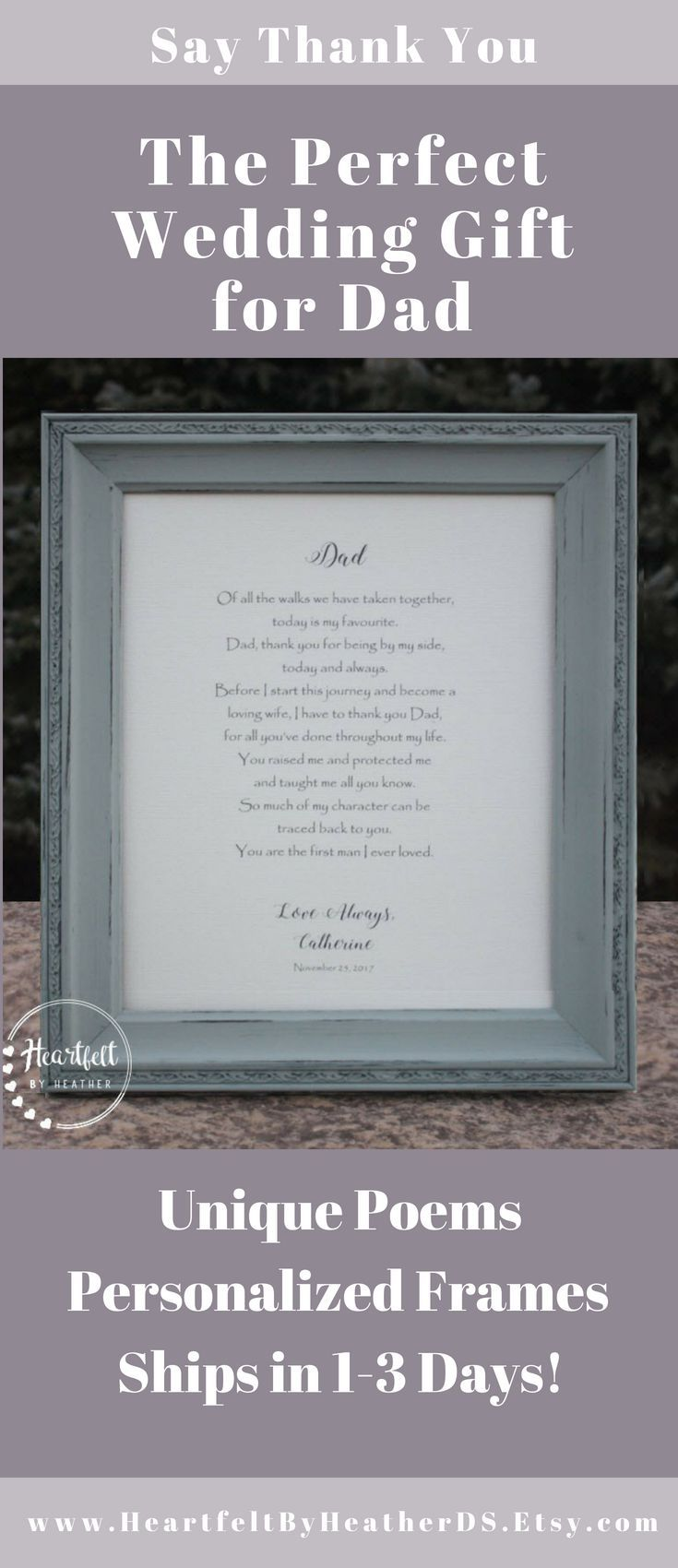 Wedding Gift For Dad Father Of The Bride Gift From Daughter