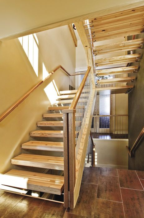 Best An Inexpensive Stair With An Illusion Of Floating Treads 400 x 300