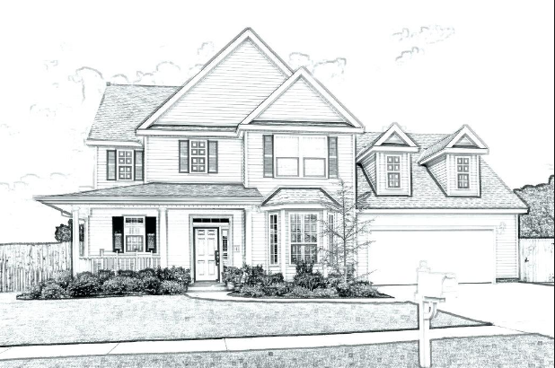 Sketch Design Of House House Design Drawing House Sketch Dream House Drawing