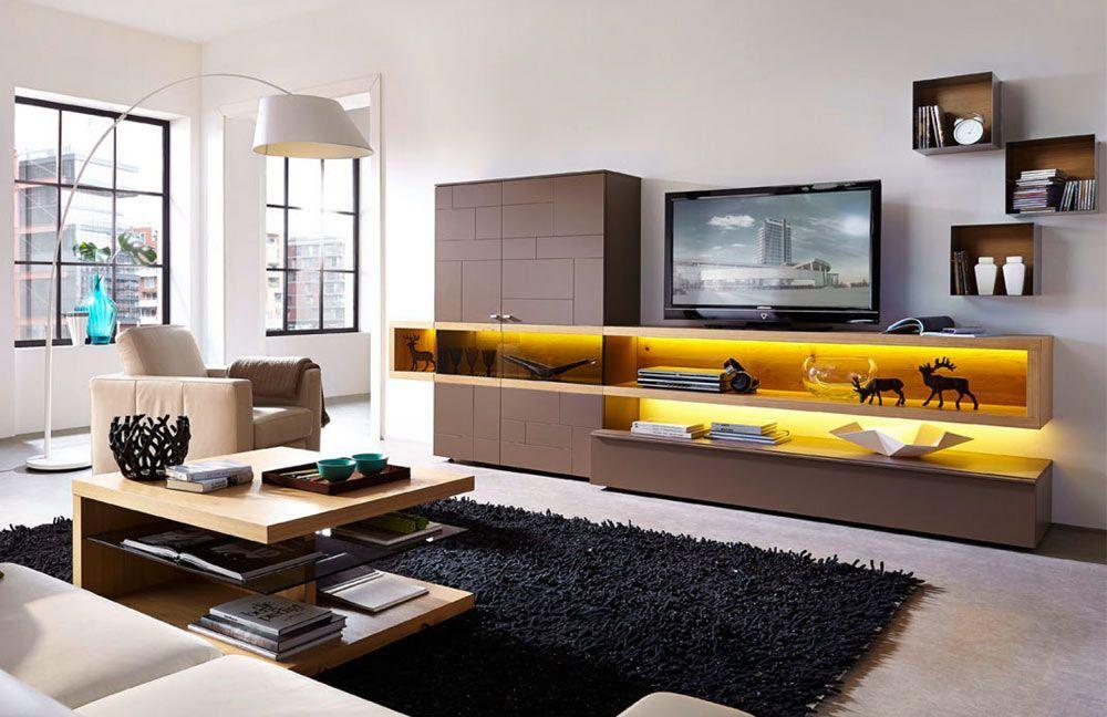 stylische Wohnwand Cubic Mit dieser modernen Wohnwand setzt du ein - moderne wohnzimmer beleuchtung