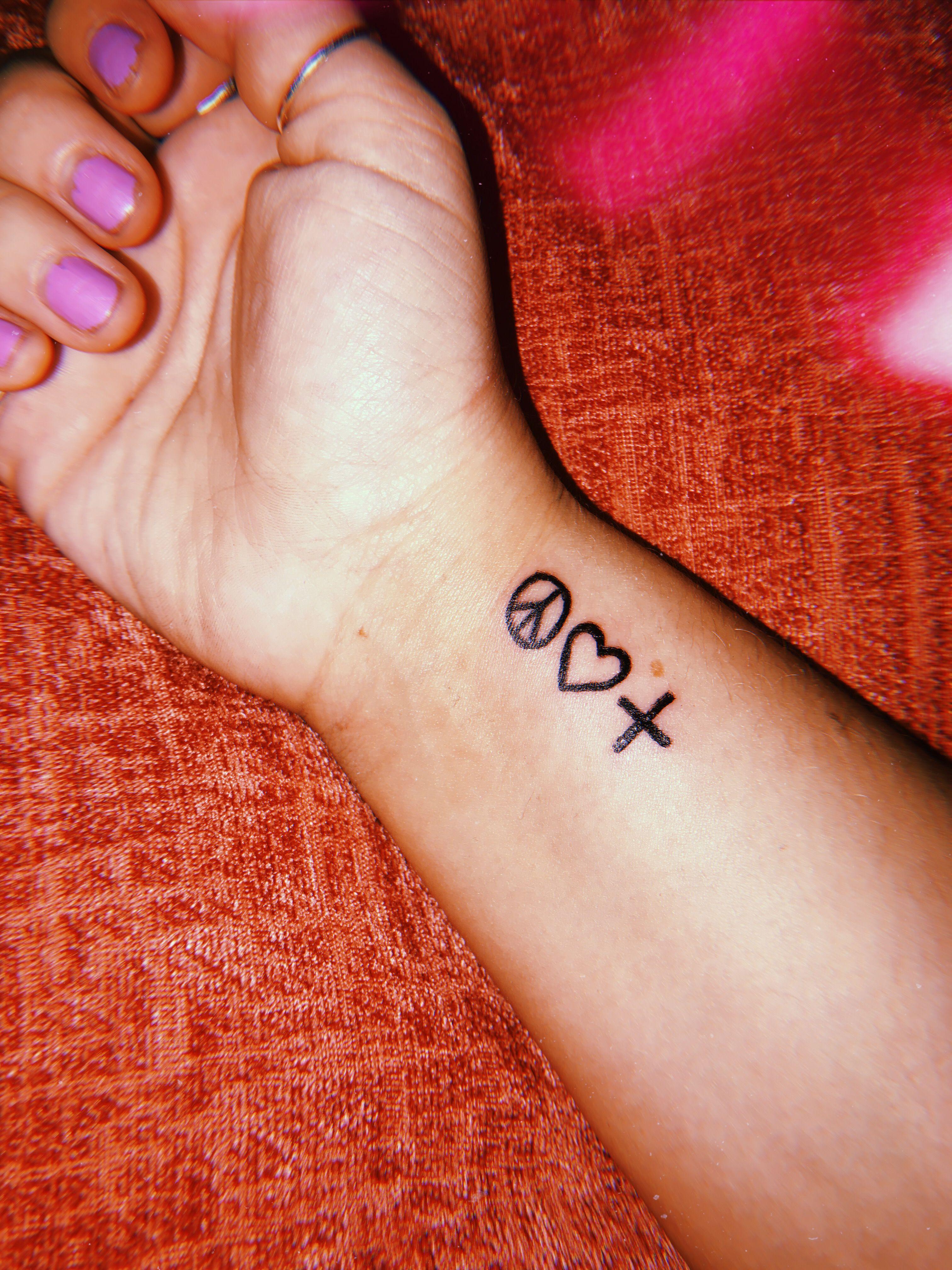 Peace Love And Positivity Logic Positivity Tattoo Small Tattoos Peace Tattoos