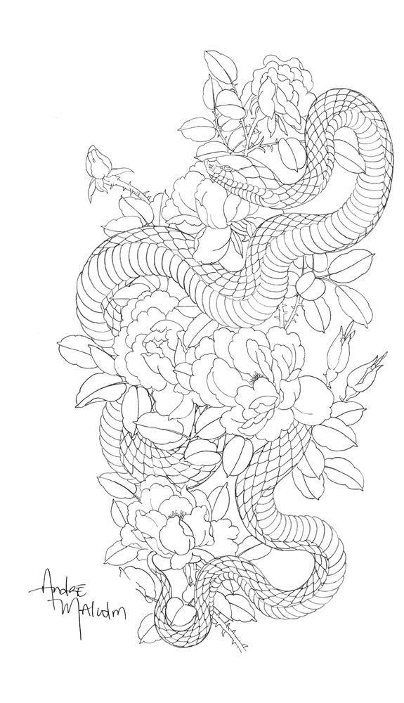 Sketch12 Jpg Japanese Tattoo Snake Tattoo Design Japanese Snake Tattoo