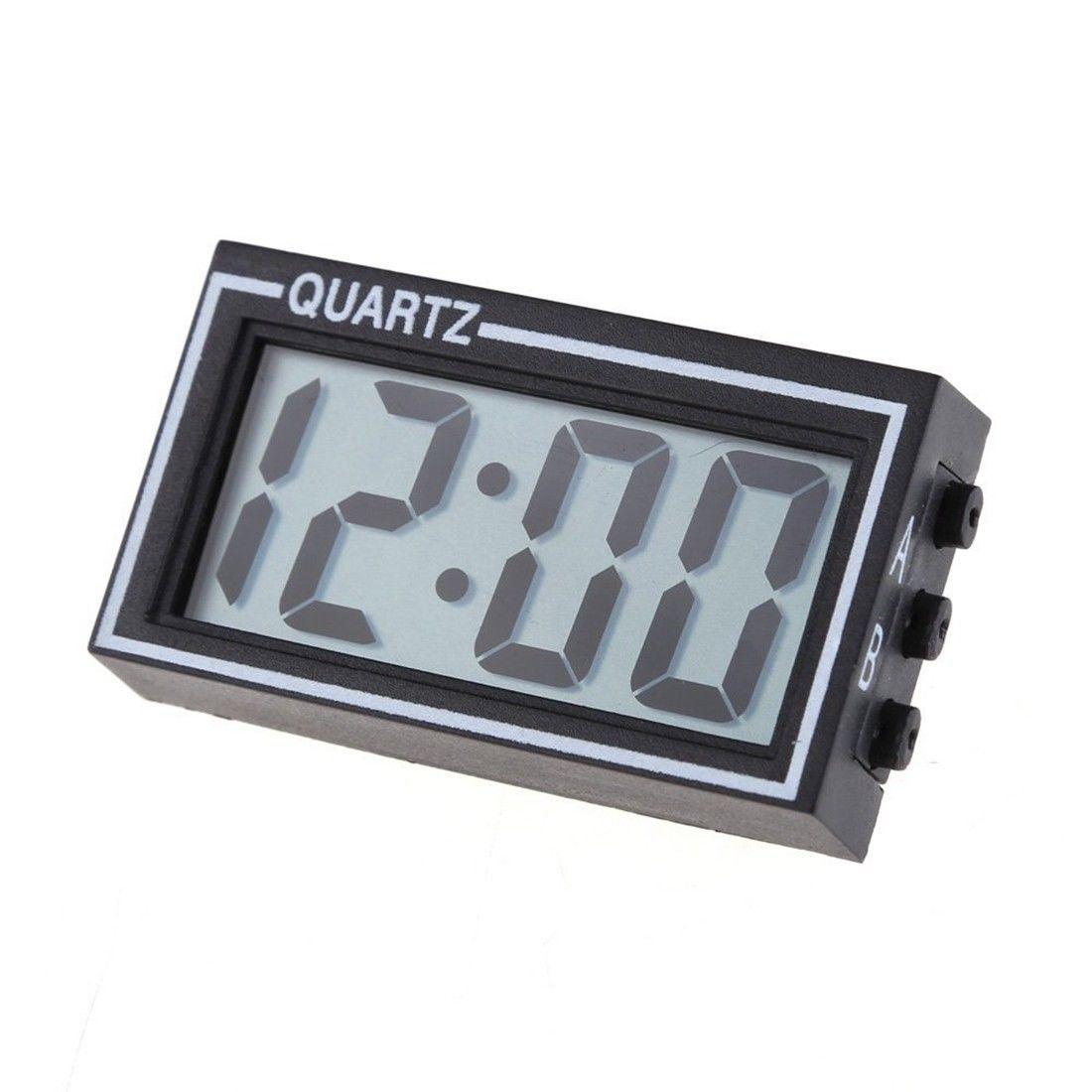 Mini Digital LCD Auto Car Truck Dashboard Date Time Calendar Clock Black O1W5