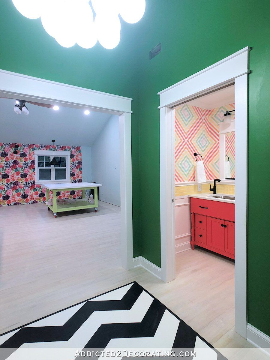 New Wide Angle Studio Pictures (Studio, Back Entry, Storage Room + Bathroom #wideangle