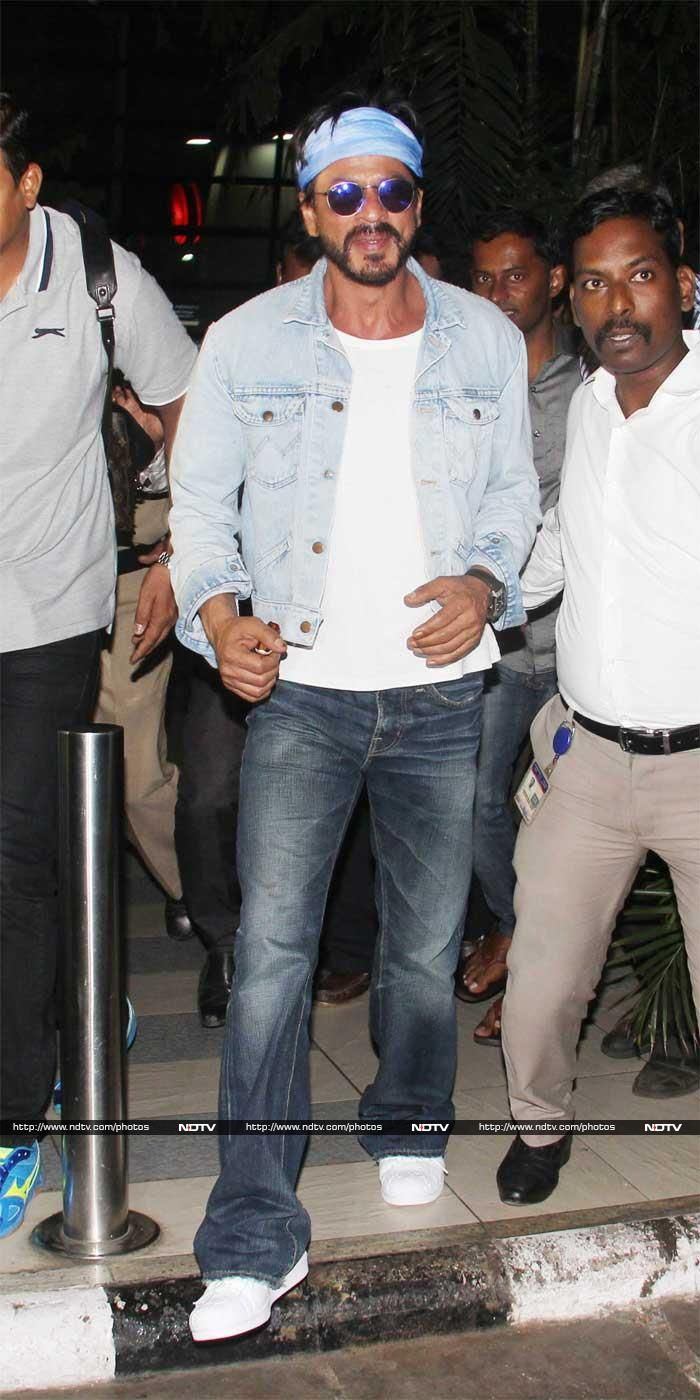 SRK Touches Down in Mumbai Ahead of Gauri's Birthday in