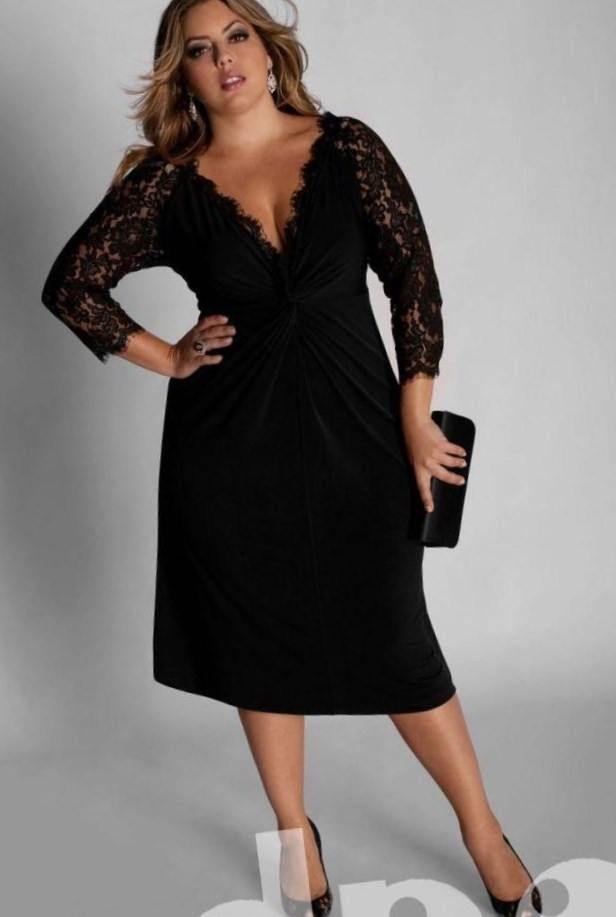 fb83aab871f7690 Модные платья для полных женщин невысокого роста | модницы + ...
