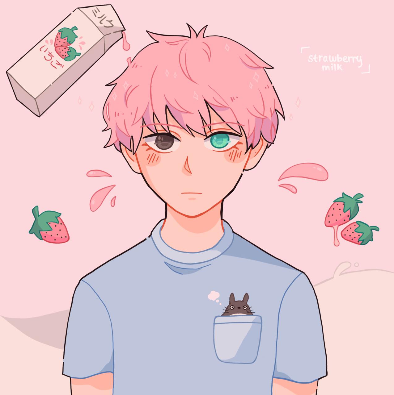 strawberry milk Todoroki Shotō in 2020 | Strawberry milk ...