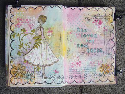 Art Journling med Julie Nutting Stamps | Art journal pages ...