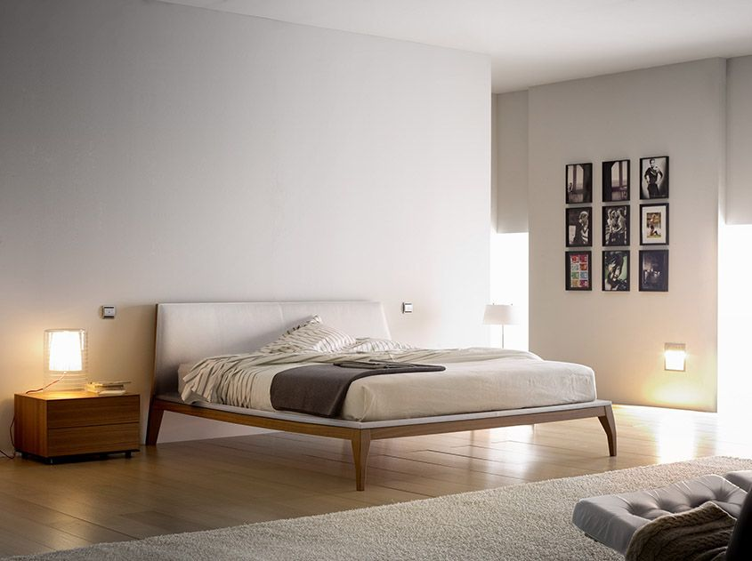 Double Bed With Upholstered Headboard Bel By Treku Design Ibon