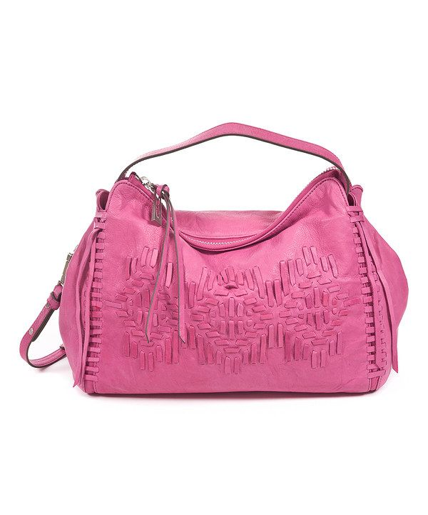 99a714fc3d93 Look at this Sanctuary Handbags Magenta Southwest Leather Satchel on   zulily today!