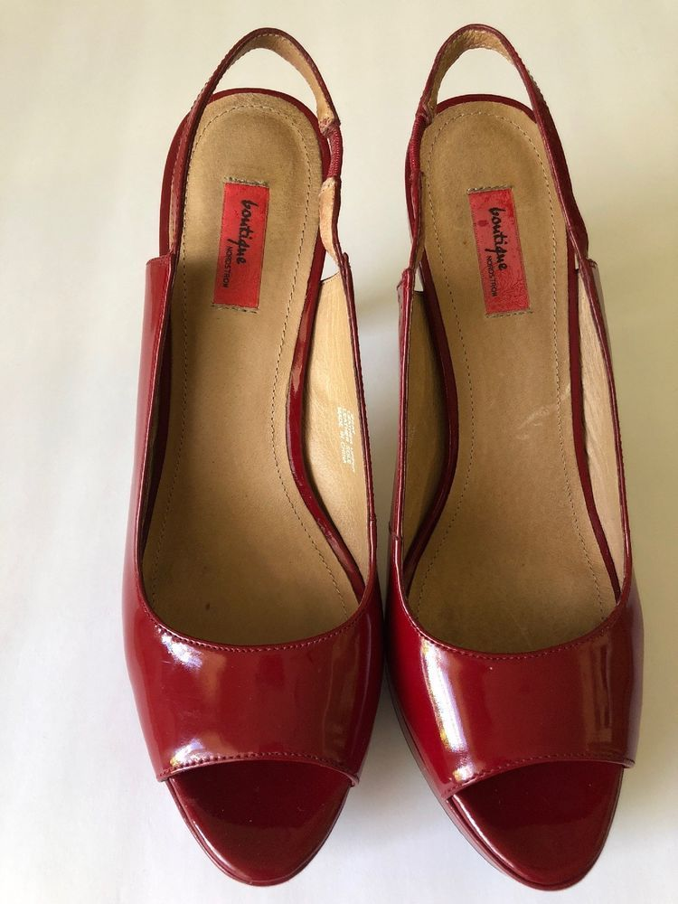 464c4802f90 Nordstrom Boutique Red Patent Heels 8.5... EUC #fashion #clothing ...