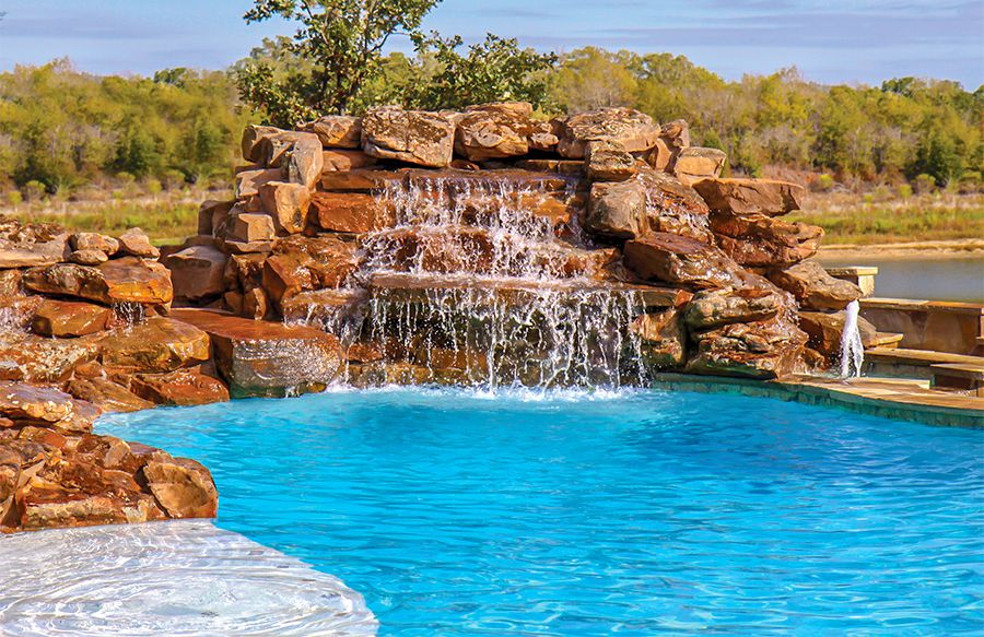 Swimming Pool Rock Waterfall Pictures Blue Haven Pool Waterfall Backyard Pool Backyard Pool Designs