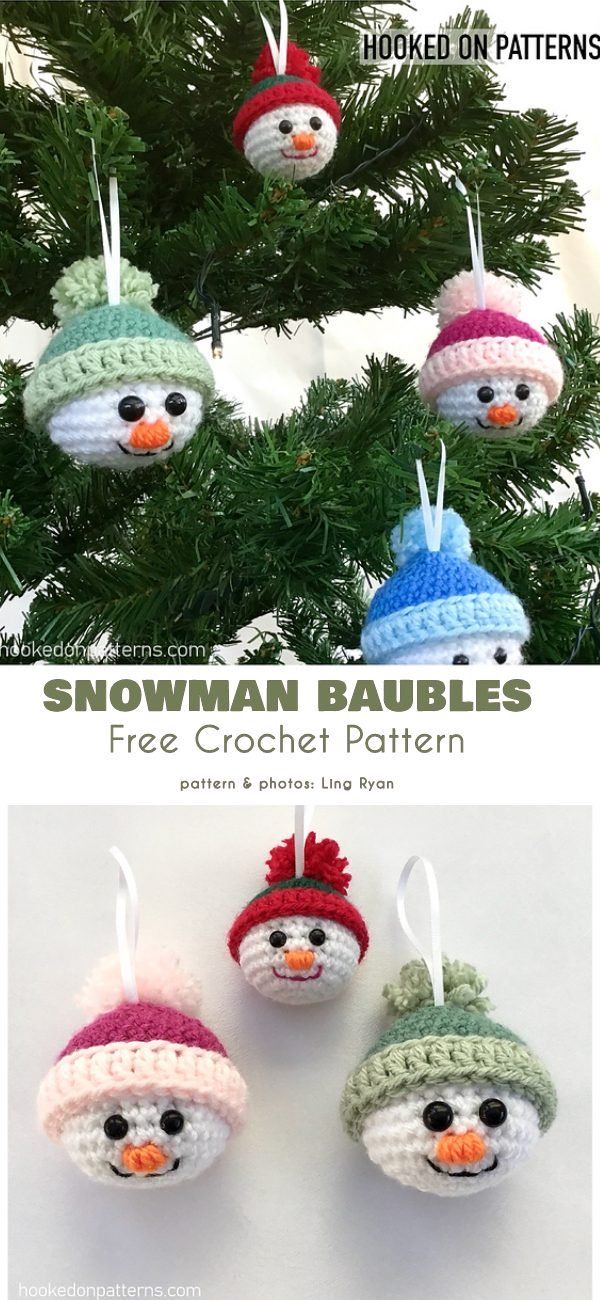 Funny Christmas Baubles Free Crochet Patterns
