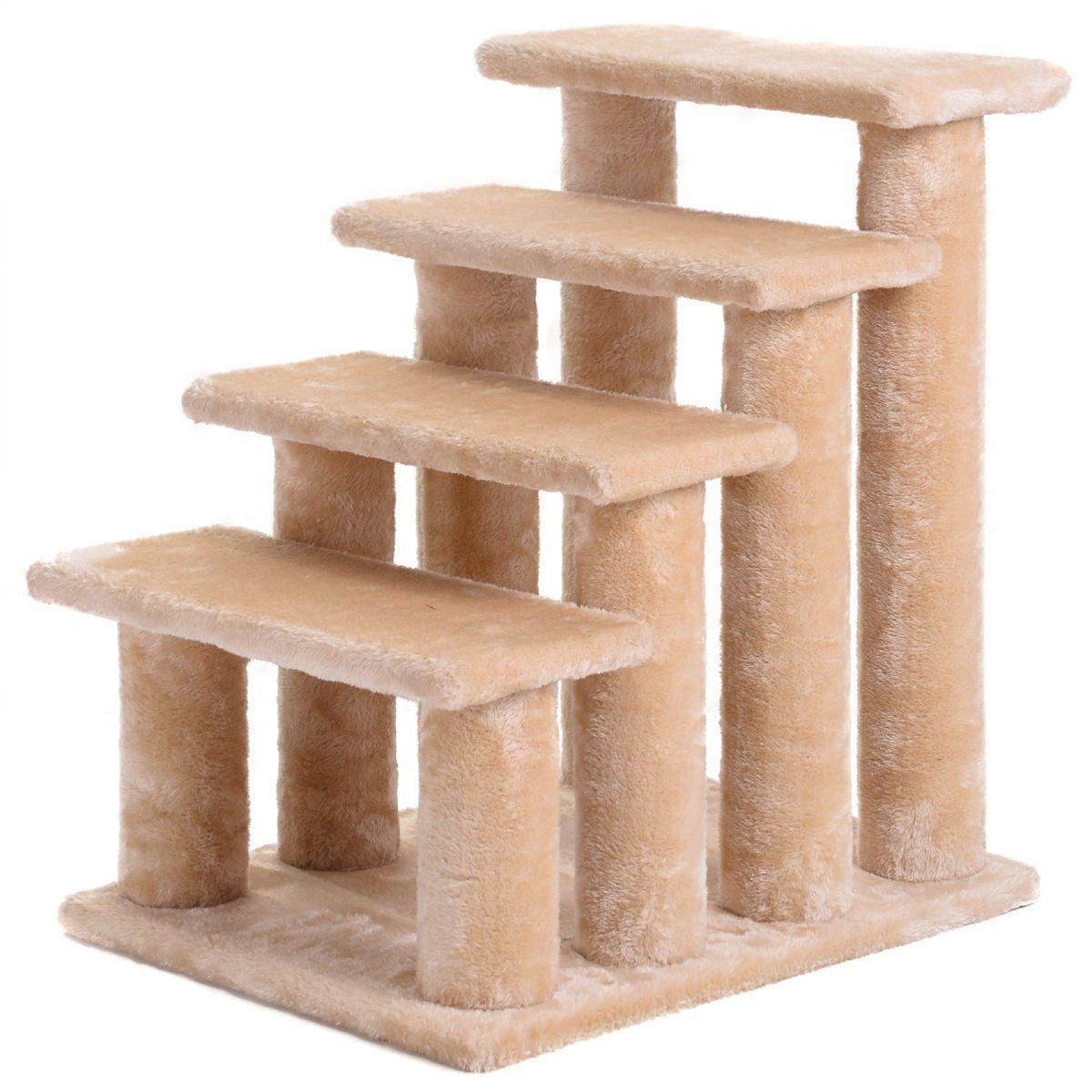 EE 21' Cat Tree 4Step Stairway Perch Scratcher Stairs Dog