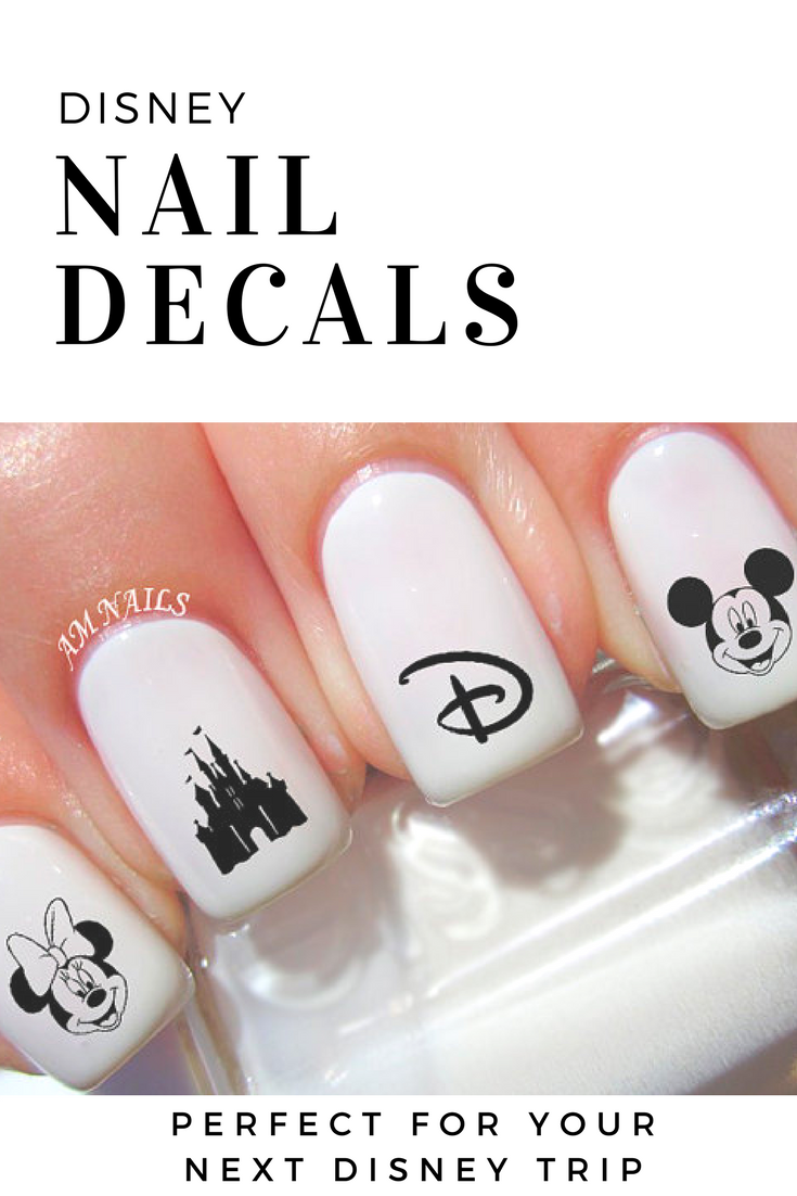 Disney nail decals, Minnie mouse, Mickey mouse, Disney castle ...