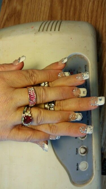 Nails from  Nice Nails Kinston NC Shout out to Kim and Mama