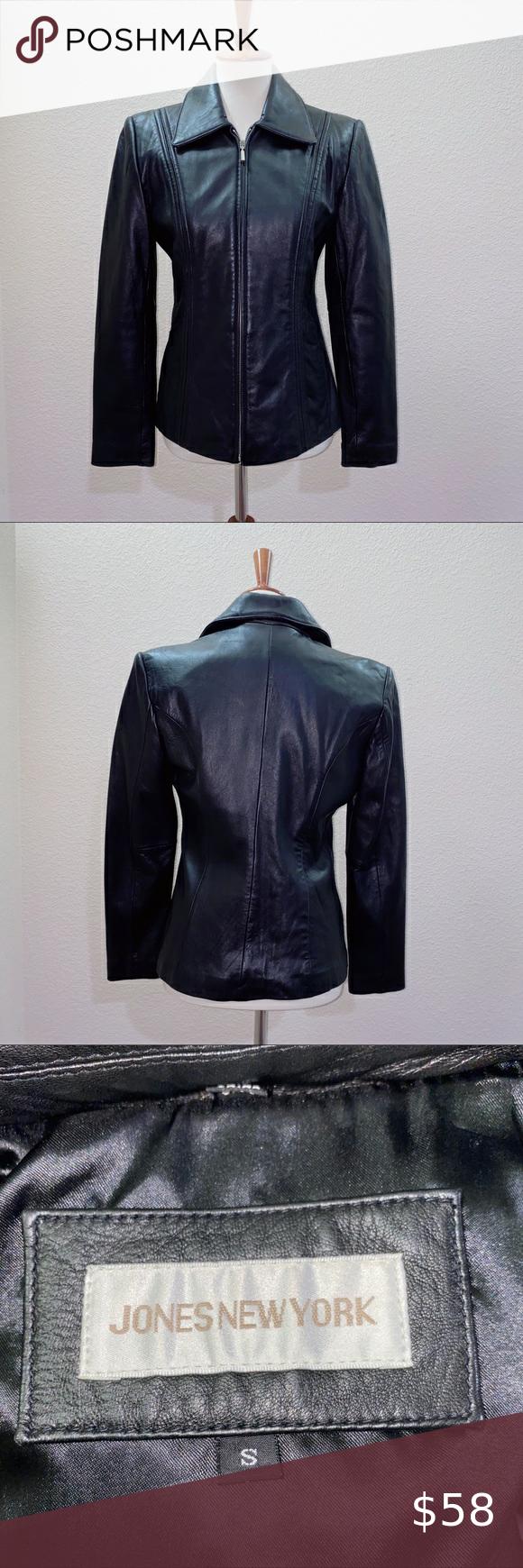 Nwot Jones New York Leather Jacket Size Small Leather Jacket Jones New York Jackets [ 1740 x 580 Pixel ]