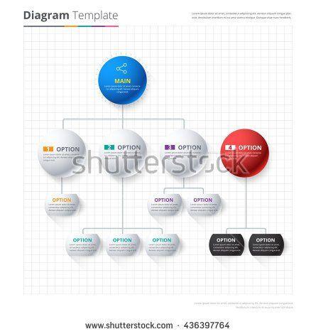 Diagram Template, Organization chart template flow template - blank flow chart