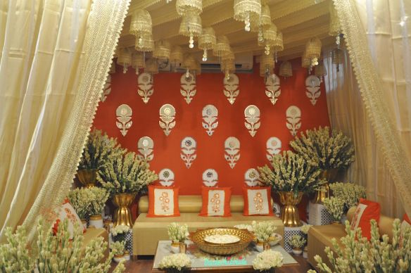 The Tamarind Courtyard   Jaipuri Haveli Decor   Event Decor   Orange And  Gold   Wedding