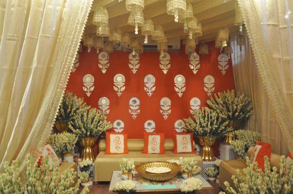 The Tamarind Courtyard   Jaipuri Haveli Decor   Event Decor   Orange And  Gold   Wedding