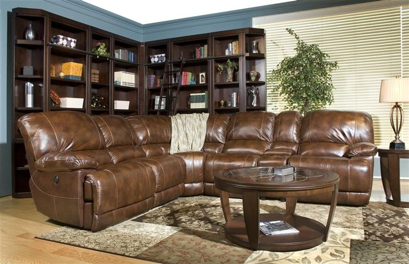 Mars Coffee Leather 6 Piece Reclining Sectional By Parker House Mmar 811 Co Sec06 Living Room Leather Leather Living Room Furniture Modern Leather Living Room Furniture