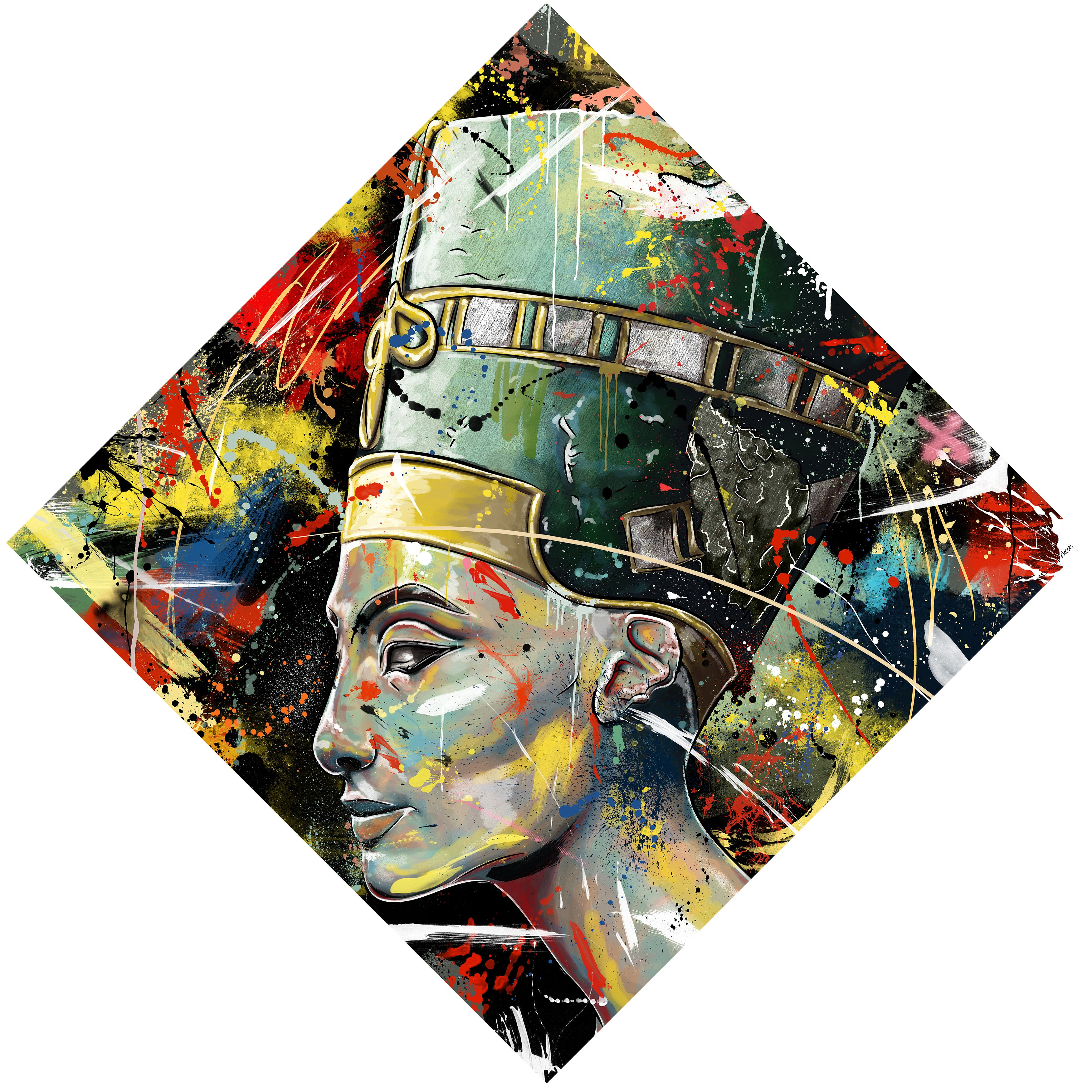 Maxwell Dickson Queen Nefertiti Egyptian Canvas Wall Art Modern Wall Art Canvas Art Nefertiti Art