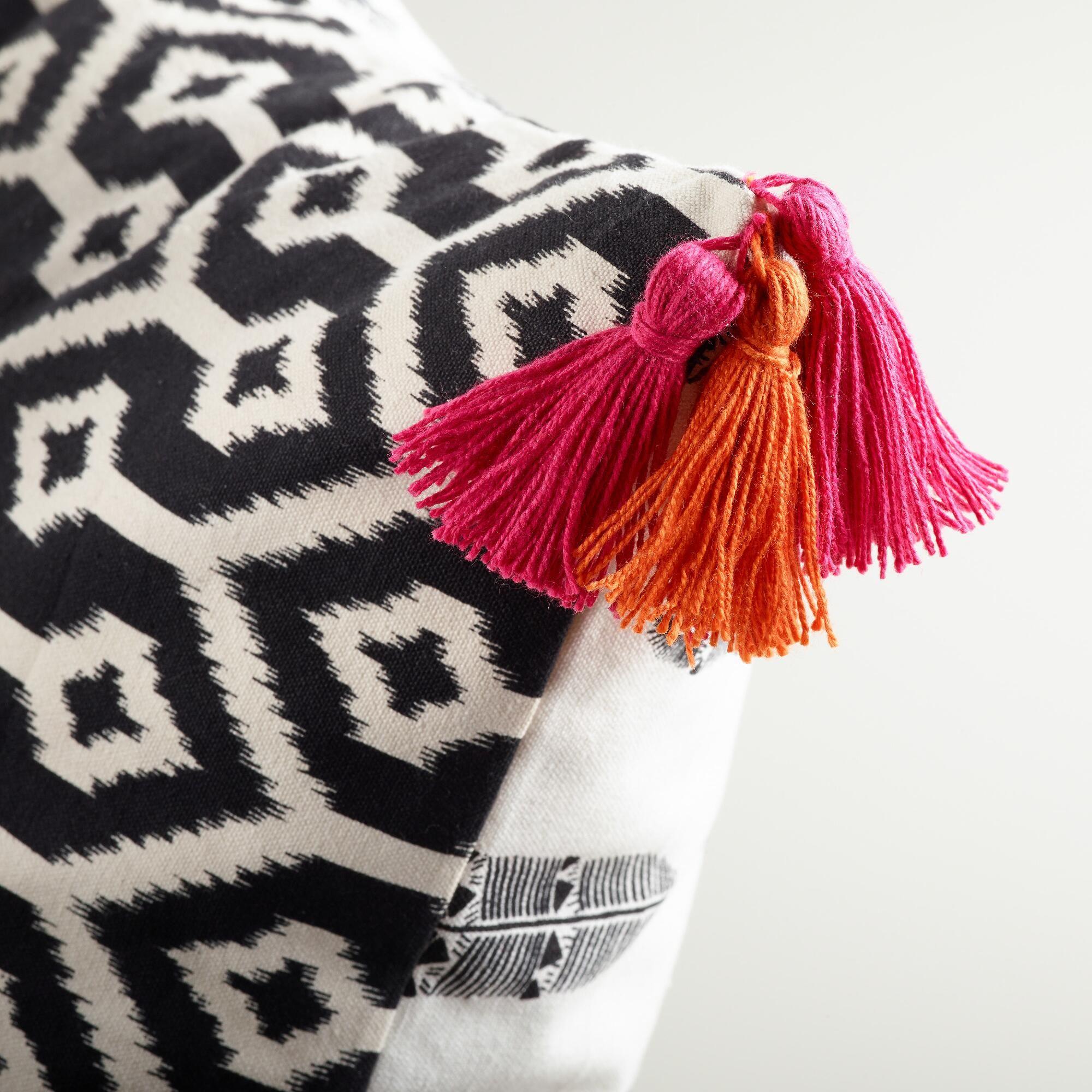 Feathers Printed Lumbar Pillow | World Market