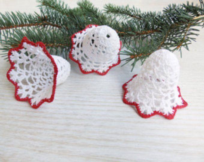 Crochet Christmas ornaments Set of 3 ornaments Crochet Christmas ...