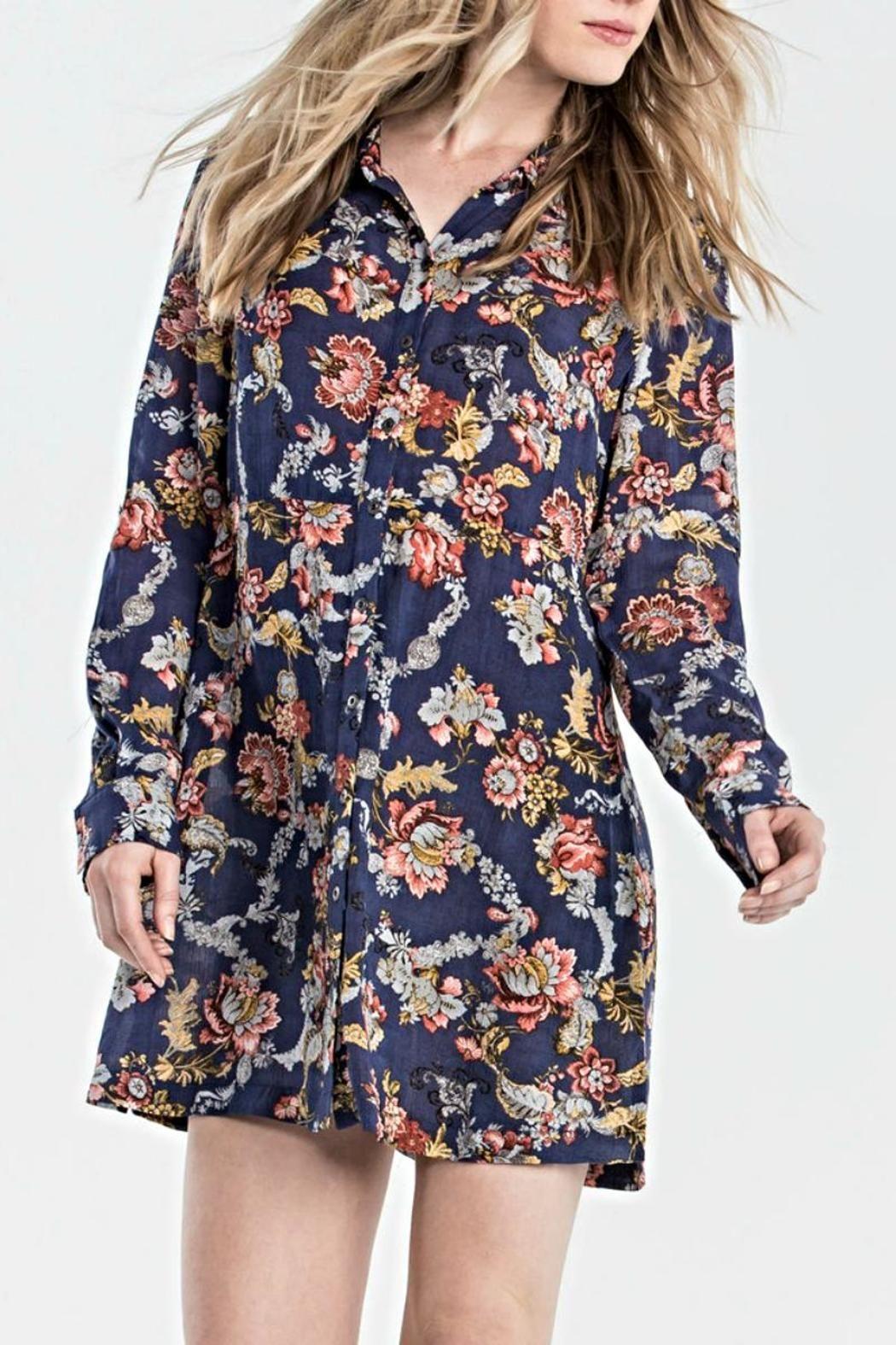 Miss Me Floral Shirt Dress Floral Shirt Dress Shirt Dress Dresses