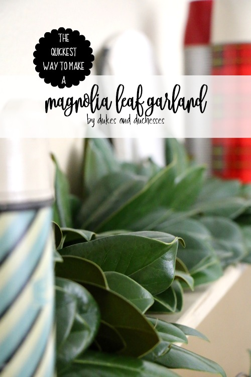 The Quickest Way to Make a Magnolia Leaf Garland