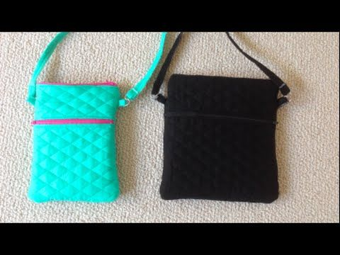 DIY Double Zippered Crossbody - YouTube