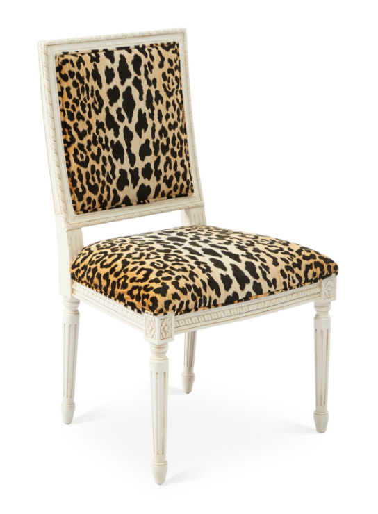 The Daily Hunt Scalamandre Tiger Leopard Red Dining Chairs