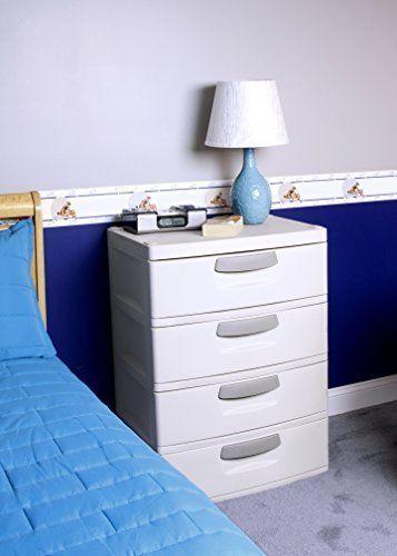 Storage Dresser Cabinet Closet Organizer Putty Handles Light