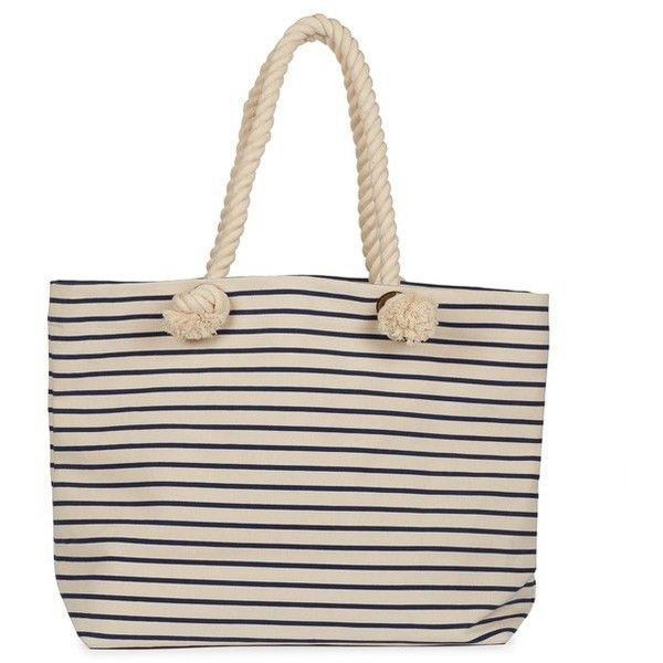 Joie Perfect Canvas Beach Tote ($65) ❤ liked on Polyvore featuring bags, handbags, tote bags, navy stripe, totes, beach bag tote, pink canvas tote bag, beach bags, beach tote bags and striped canvas tote