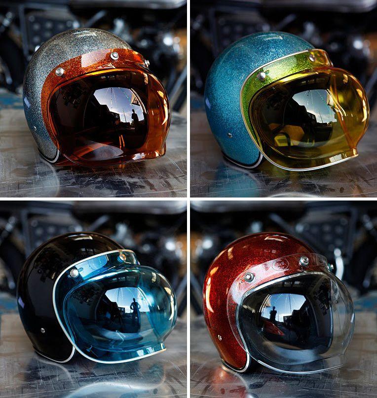 Bubble Visor Helmets Motorcycle Helmets Vintage Helmet Biltwell Helmet