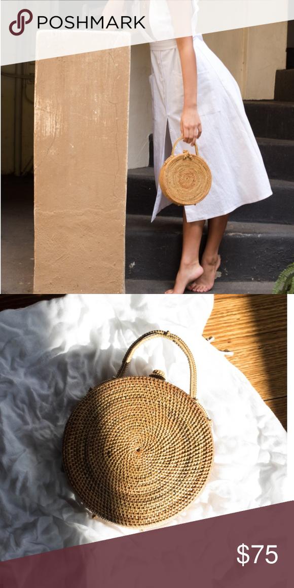 Jeanne Bag Natural Woven Handbag Australia New