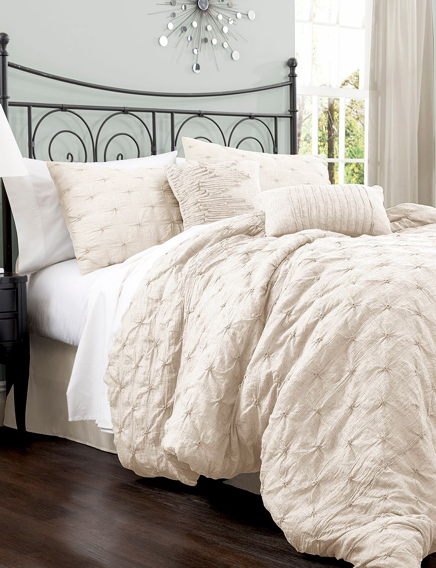 Lush Decor Lake Como 4 Pc Ivory Comforter Set Stage S