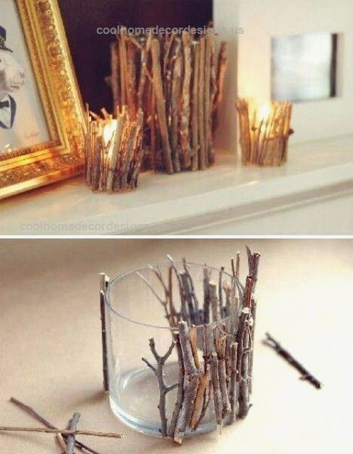 Twig Candle Holders 40 Rustic Home Decor Ideas You Can Build Yourself Twi