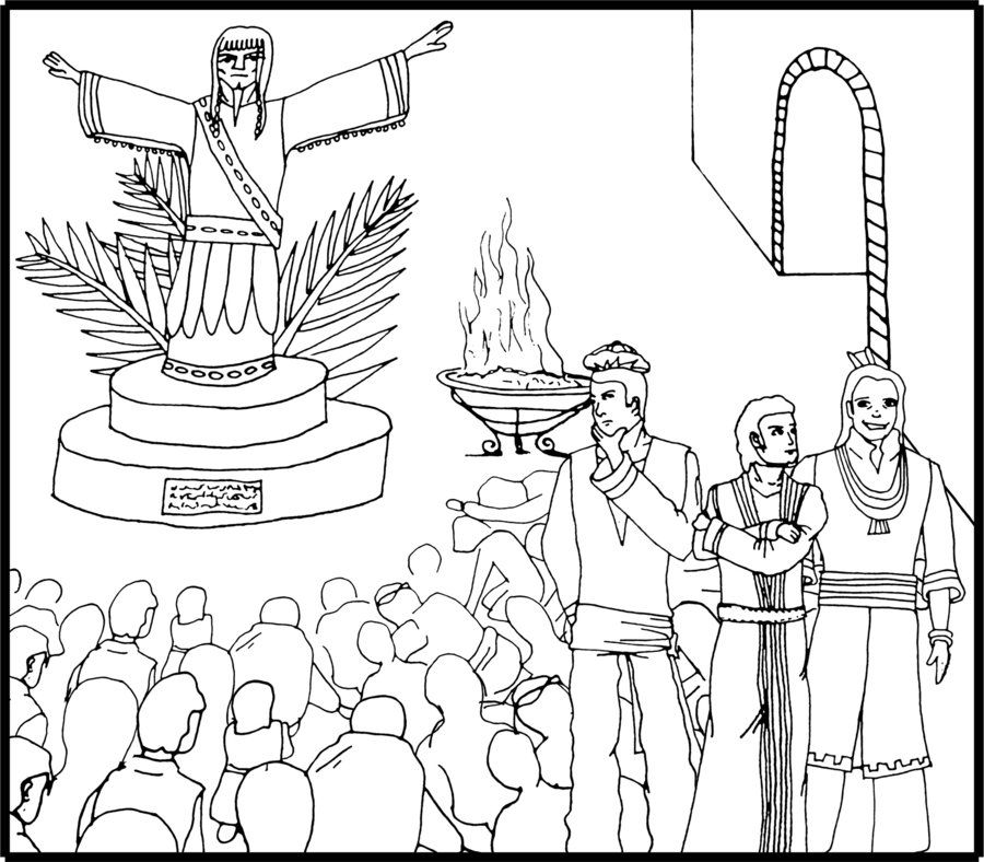 Shadrach Meshach And Abednego Coloring Page AZ Coloring Pages ...