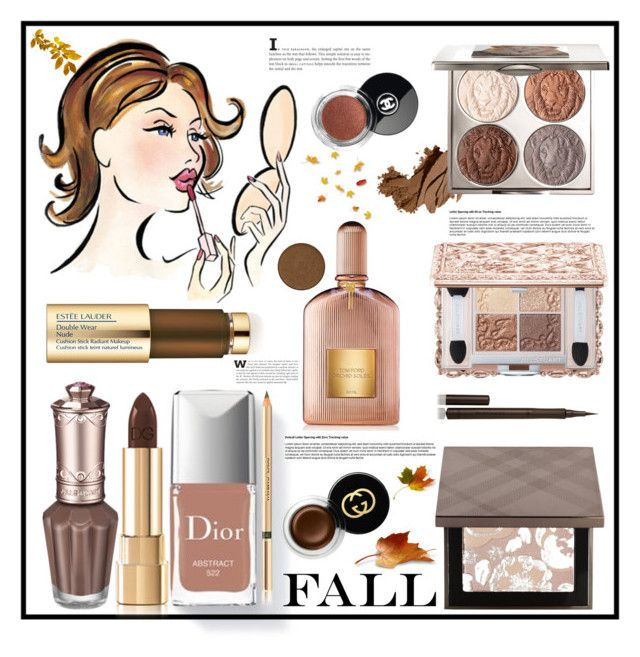 """""""Fall Beauty"""" by southindianmakeup1990 ❤ liked on Polyvore featuring beauty, Couture Colour, Bobbi Brown Cosmetics, Burberry, Chantecaille, Gucci, Estée Lauder, Anastasia Beverly Hills, Beauty and polyvoreeditorial"""
