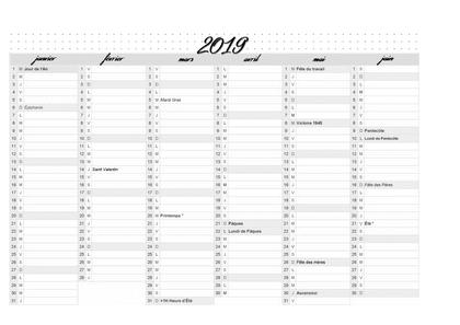 Calendrier 2019 Premier Semestre A Imprimer.Calendrier 2019 Premier Semestre Calendag Calendrier