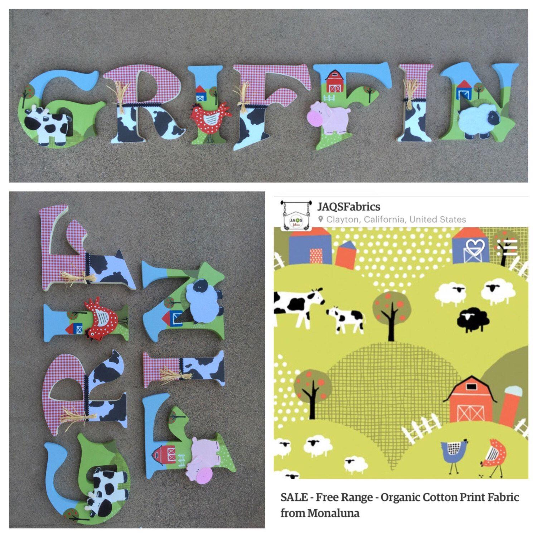 Farm Wooden Letters, Farm Letters, Custom Letters, Farm Decor ...