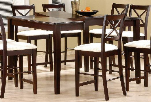 19+ Counter height dining table with lazy susan walnut finish Top